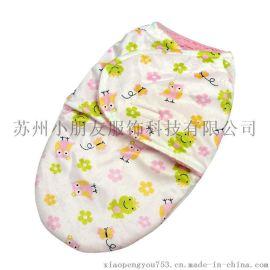 蚕茧式包被 冬季宝宝加厚印花包巾 婴幼儿外贸睡袋 超柔绒抱毯