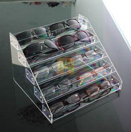 可拆装多层亚克力展示架,太阳镜陈列架,墨镜展架,透明亚克力眼镜收纳盒