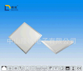 LED集成平板灯超薄天花面板灯 600*600 36W卡扣拉丝铝吊顶灯