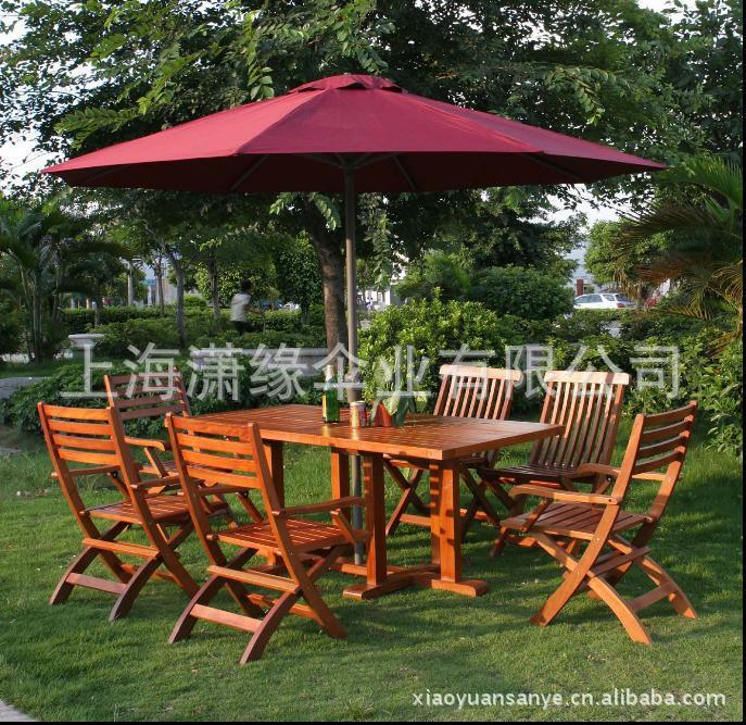 木质折叠桌椅3