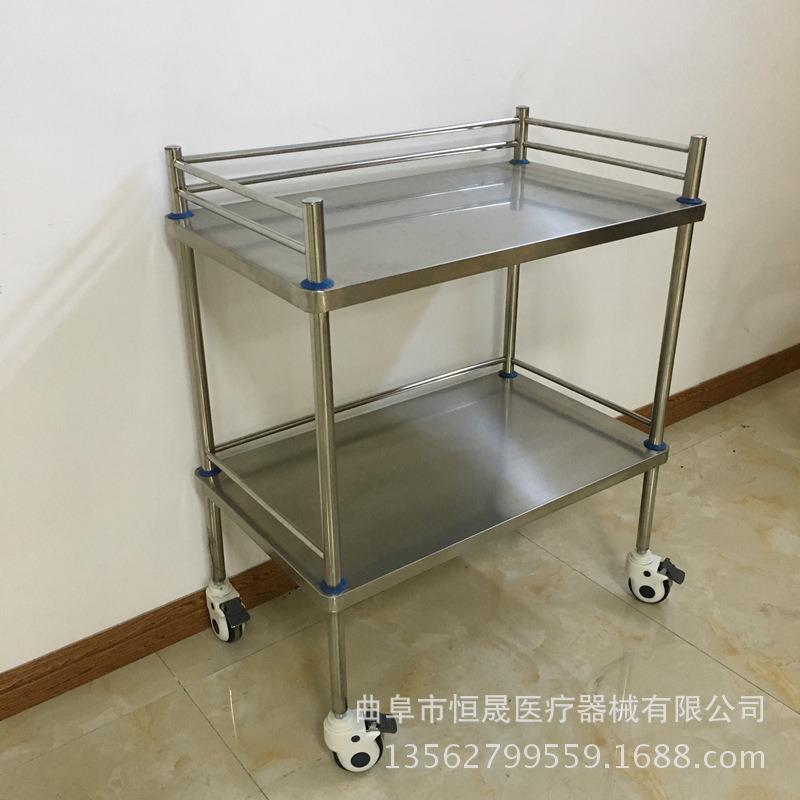 医院用不锈钢治疗车推车 ABS 扇形器械台车 厂家直销