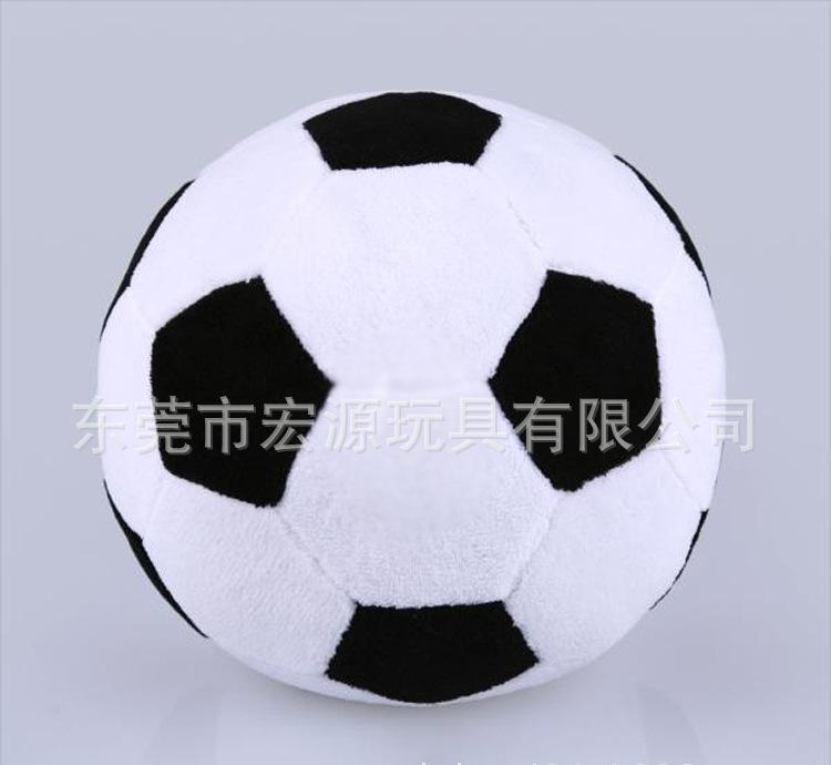 毛絨足球玩具