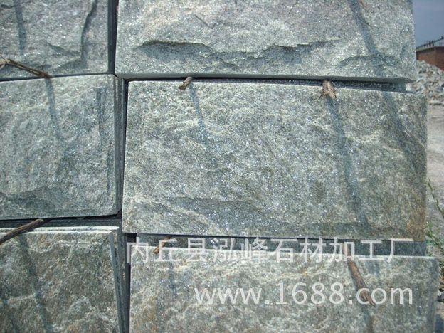 河北文化石灰色冰裂紋黃木紋蘑菇石批發