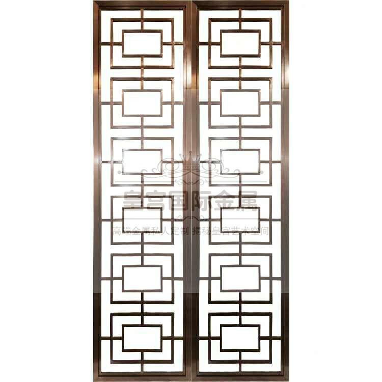 不锈钢屏风隔断客厅玄关隔断中式餐厅酒店装饰背景隔断**定制