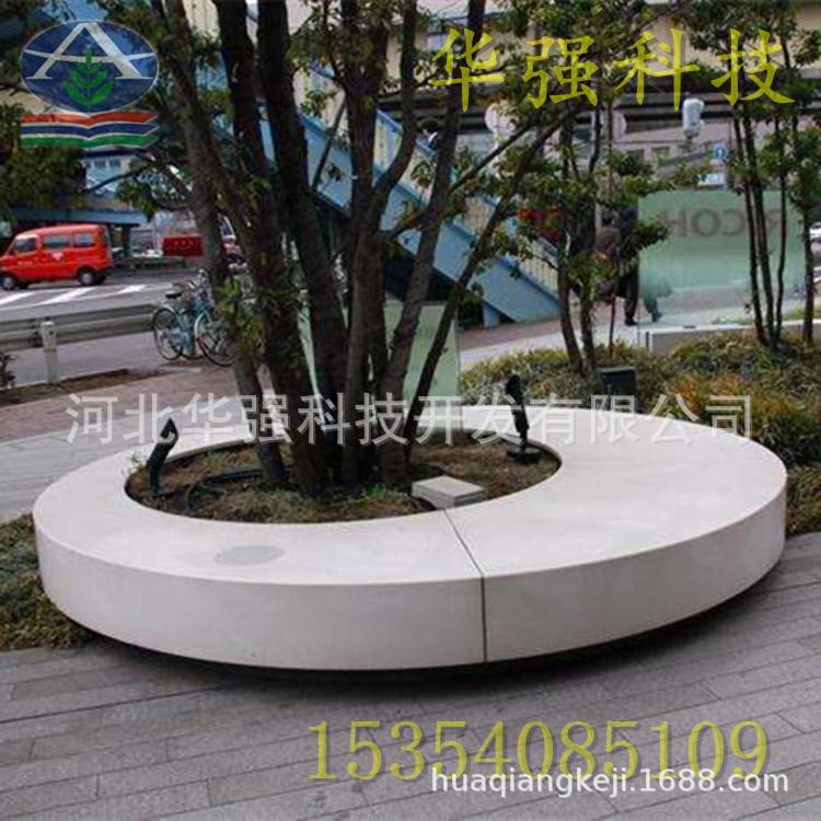 玻璃钢弧形坐凳广场大型创意玻璃纤维休闲椅公园条形坐