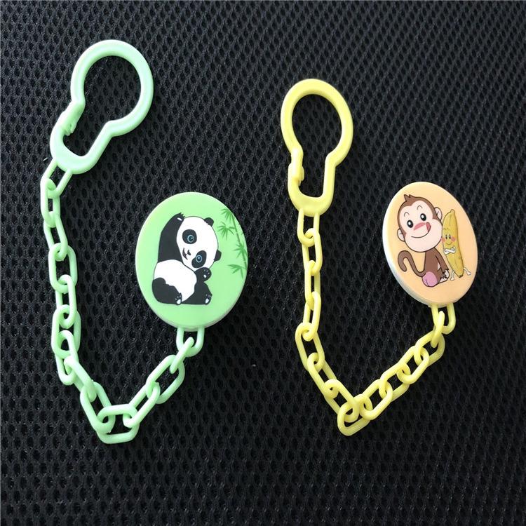 小猴、熊猫安抚奶嘴链夹