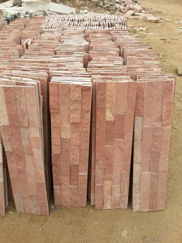 大量供应 五莲红蘑菇石 五莲红桥栏杆 浅红色石材