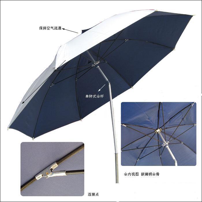 带转向玻纤骨沙滩伞4