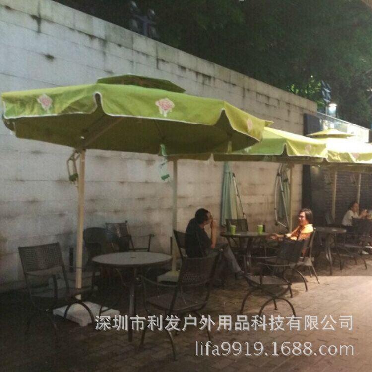 罗湖圆形果绿色侧立伞