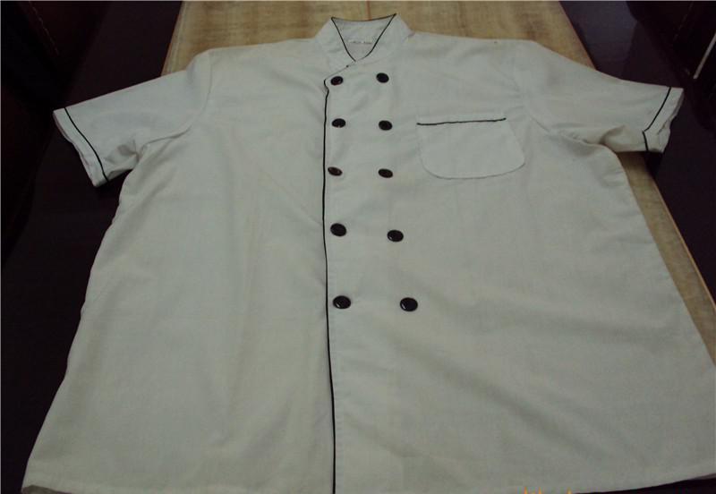 厂家直销 加工定订做 厨师服/服务员服装 酒店服装 厨师服短