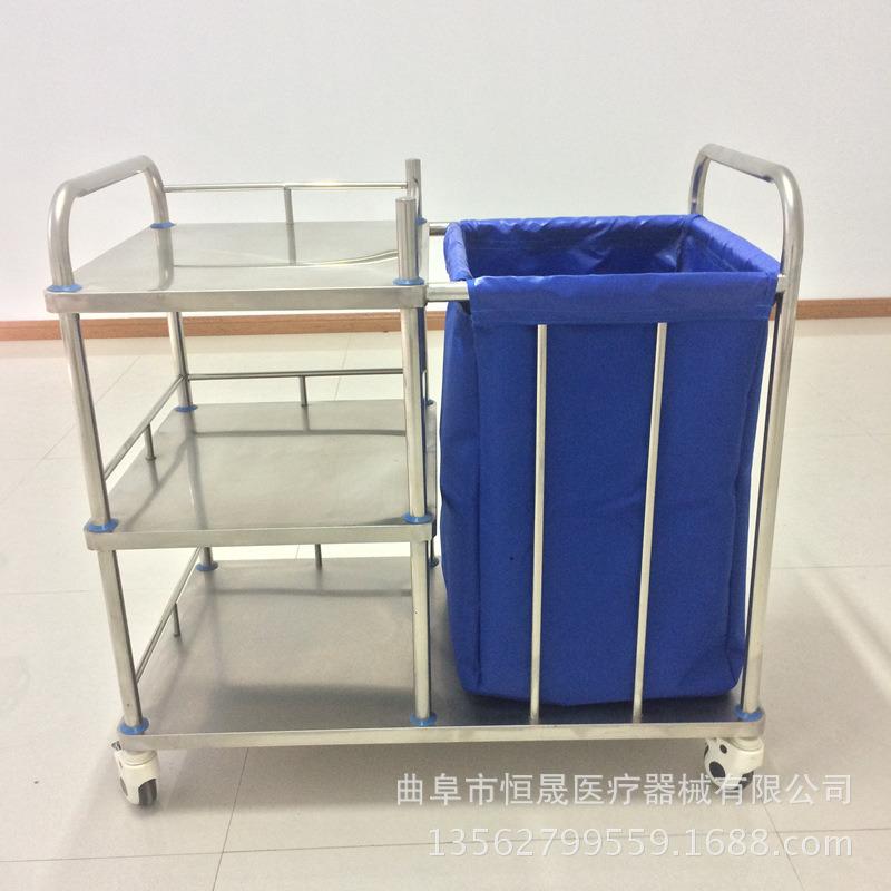 不锈钢护理车 医院病房晨间清理车 污衣车 推车厂家直销 可定制