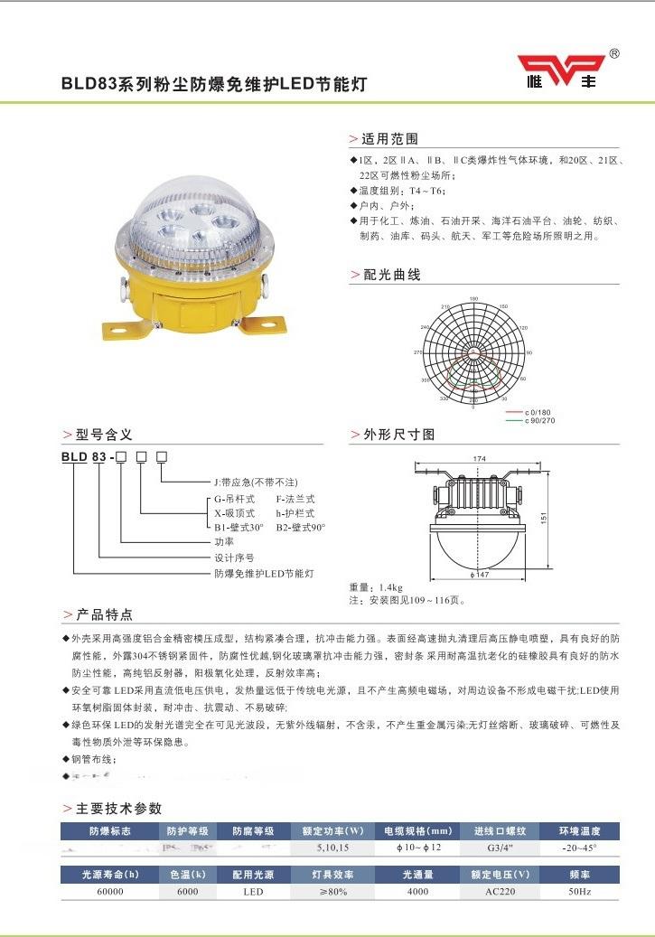 BLD83系列防爆免维护LED节能灯1
