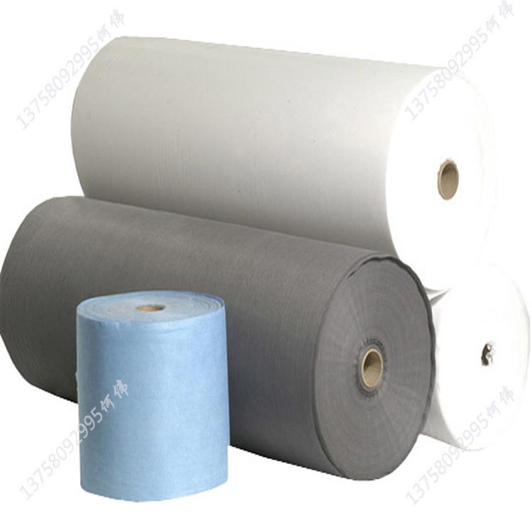 白色滌綸卷材水刺布