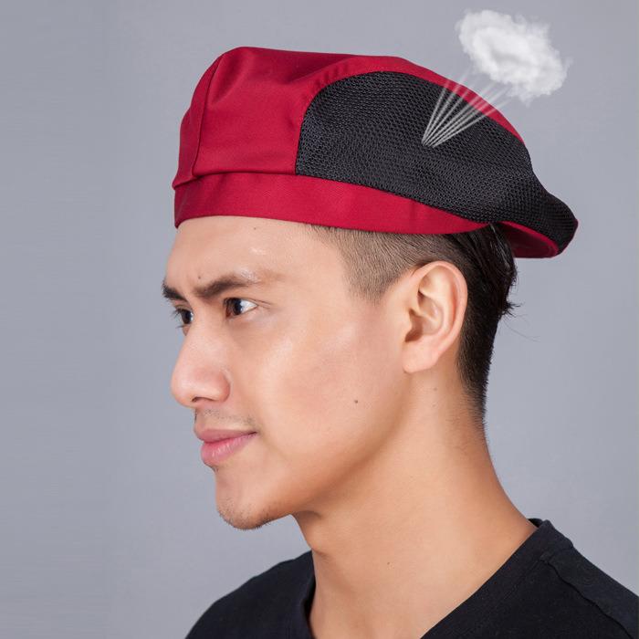 网状透气酒店男女厨师帽 饭店餐厅厨师工作帽服务_详情