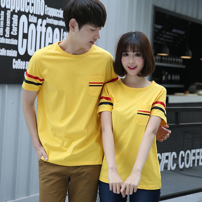 2016新韩版大码圆领纯棉短袖T恤夏季情侣工作_详情