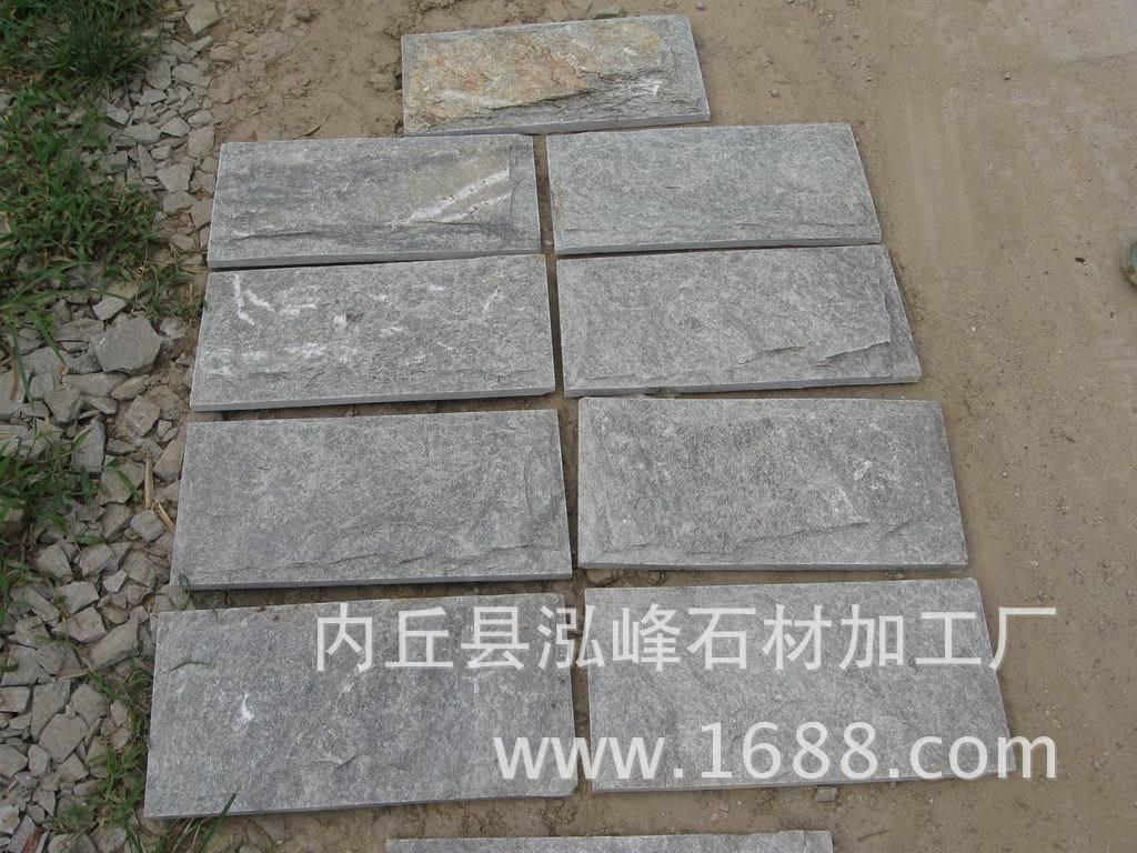 河北文化石灰色冰裂纹黄木纹蘑菇石批发