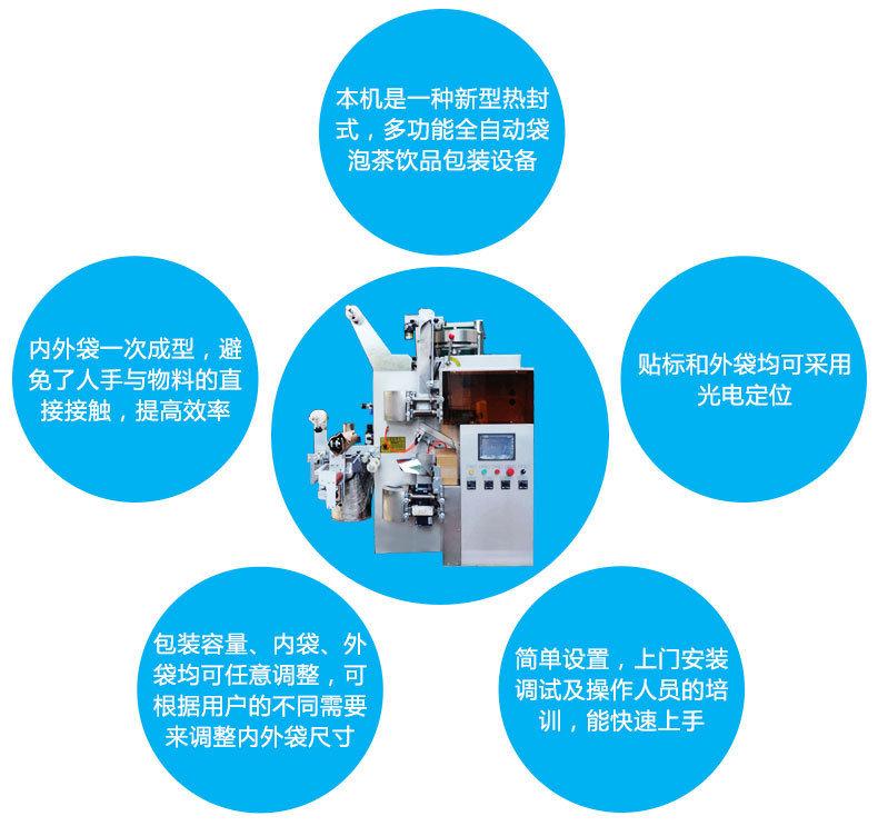 供应茶叶包装机械设备全自动袋泡茶包装机全自动小型 一体机