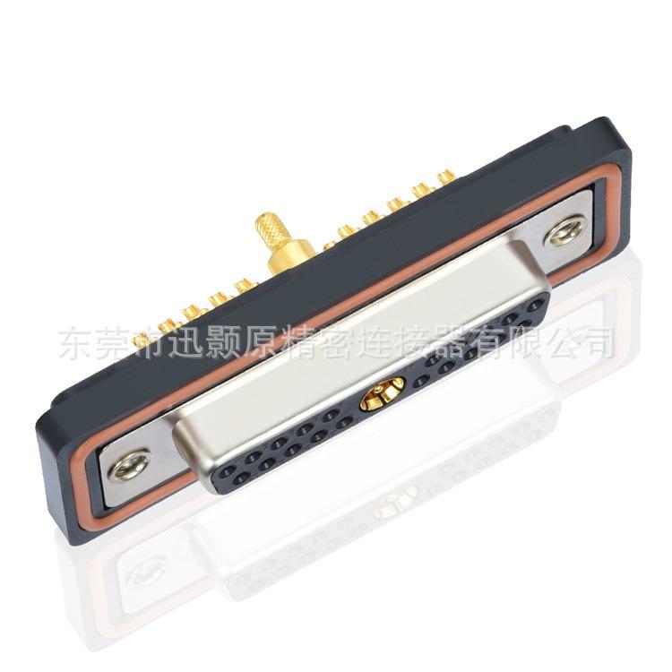 21W1 母 焊线 防水同轴射频