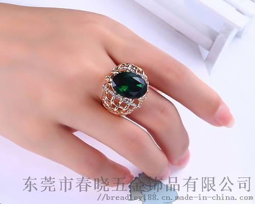 简约合金圆形锆石戒指定制/欧美流行百搭款圆形戒指110180735