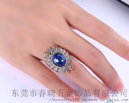 简约合金圆形锆石戒指定制/欧美流行百搭款圆形戒指110180695