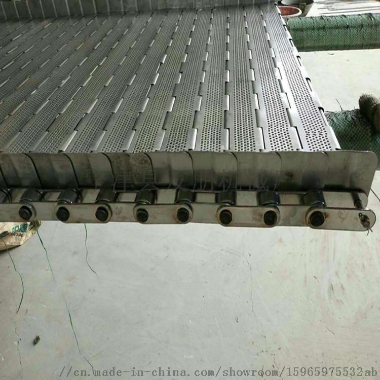 毛豆清洗输送冲孔挡板304不锈钢链板板带803254502
