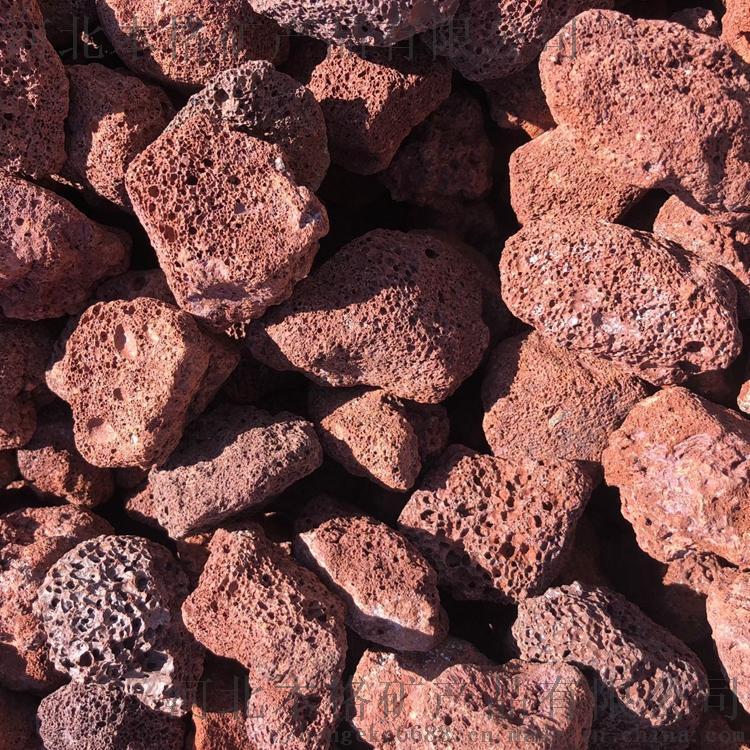 河北本格5-8cm火山石 红色火山岩808213925