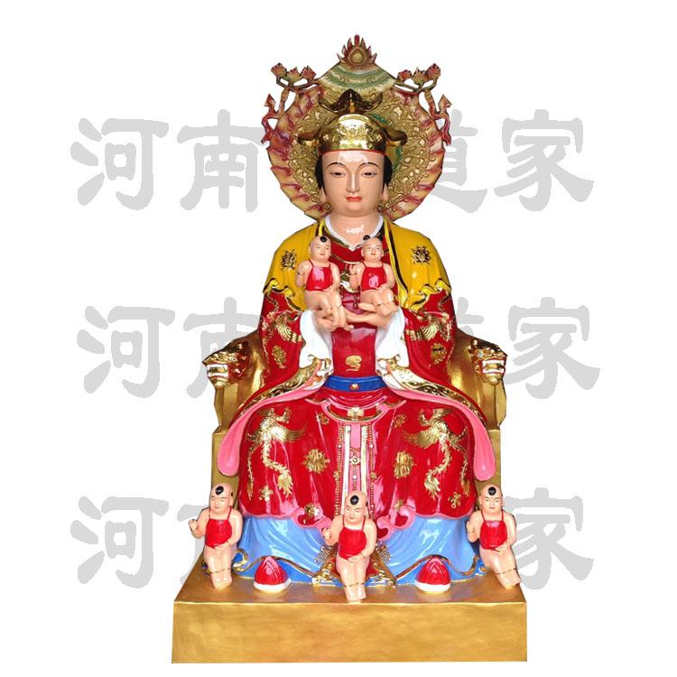 彩绘描金王母娘娘像 玉皇宫神像868591402