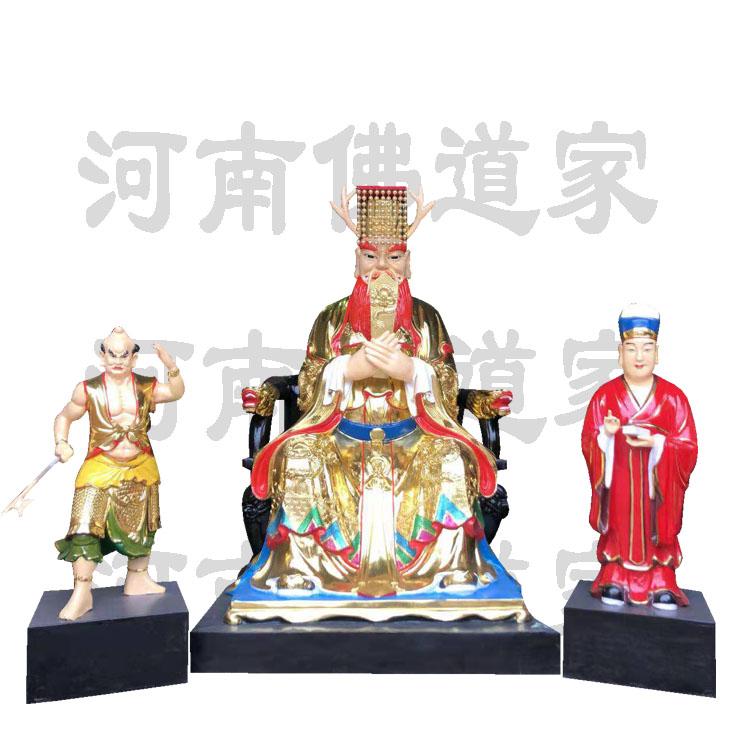 彩绘描金风雨雷电雕塑 四海龙王像868591322