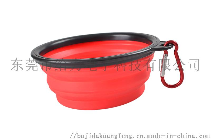宠物折叠黑框碗带钥匙扣 便携式外出旅行狗碗50874972