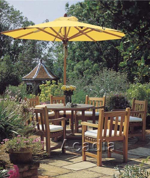 庭院太阳伞+木桌椅(ACW-PT06)619657692