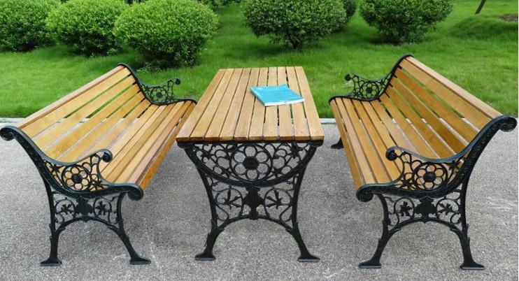 铸铁公园桌椅组合(AC-BS07)658525645