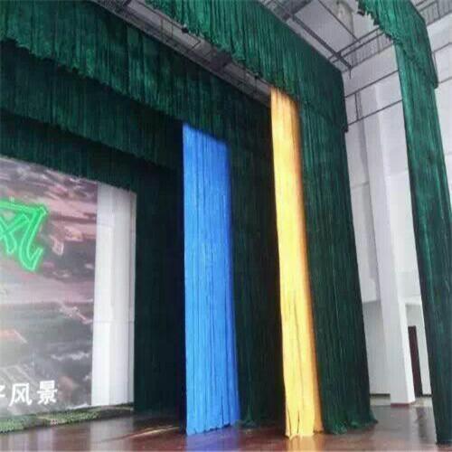 北京舞台幕布厂家供应麻绒幕布 阻燃幕布20822082
