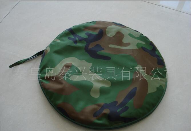 现货供应迷彩涤纶防水帆布涂PU折叠盆 户外用便携式水盆30812432