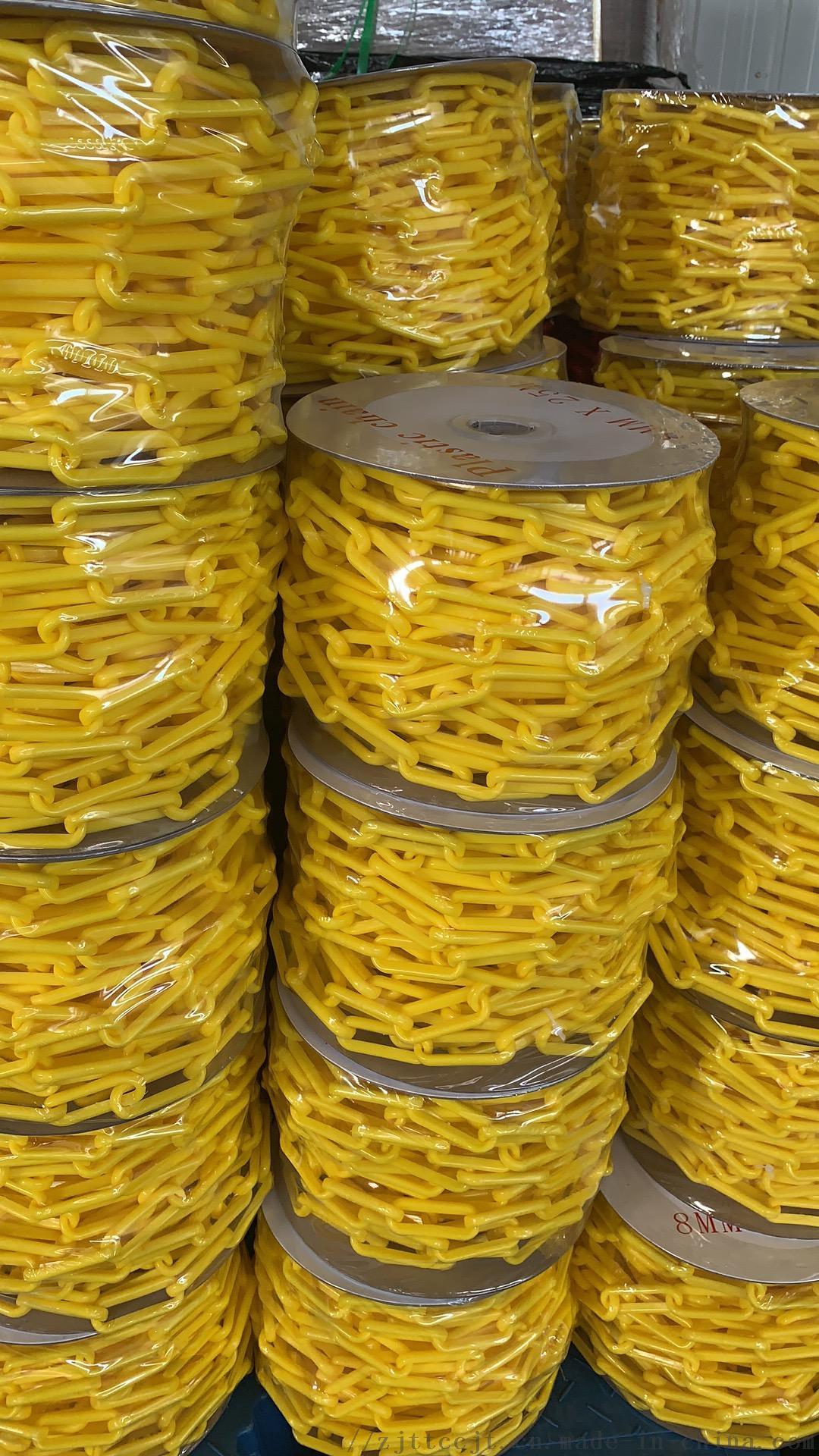 交通塑料链子链条封闭 示红白路锥塑胶安全工业扣环939567285