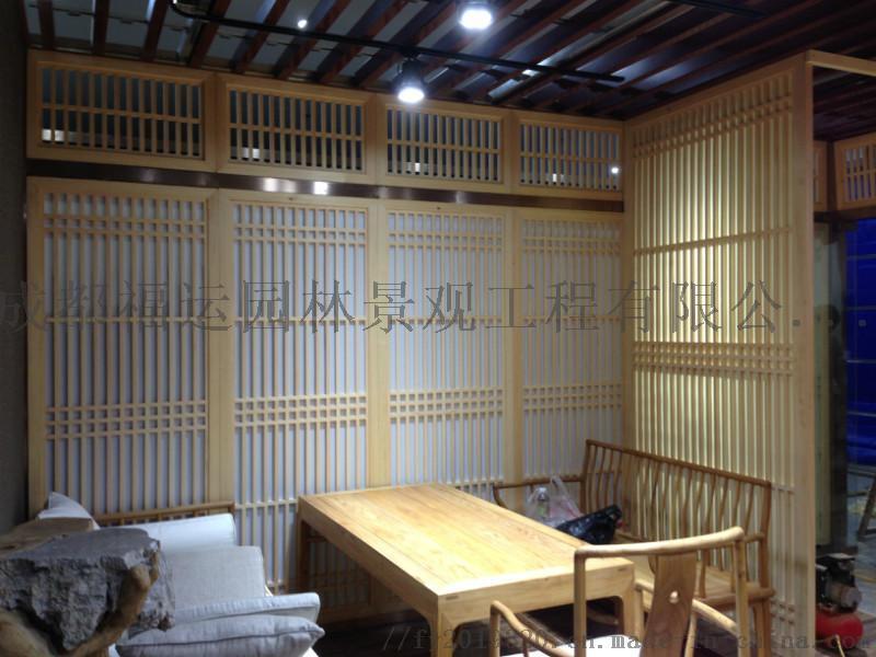 四川仿古门窗博古架厂家实木雕花挂件茶楼装修124532595