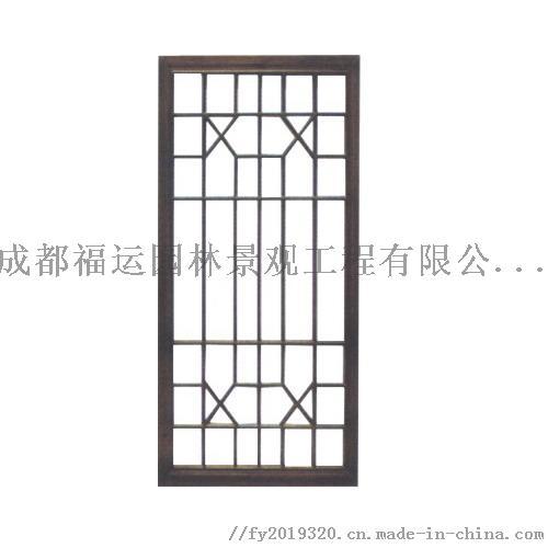 四川仿古门窗博古架厂家实木雕花挂件茶楼装修124532545