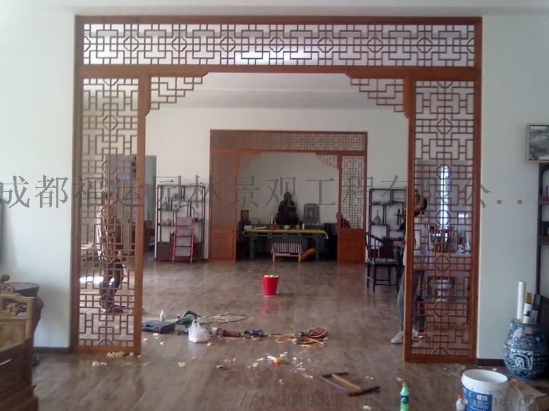 四川仿古门窗博古架厂家实木雕花挂件茶楼装修876502285