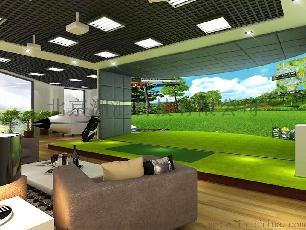 室内高尔夫模拟器球场家用投影系统902385925