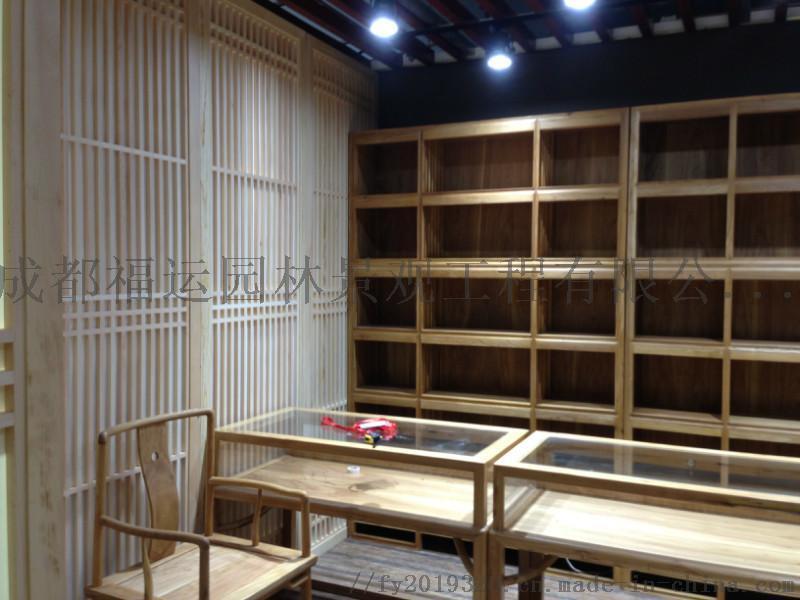 四川仿古门窗博古架厂家实木雕花挂件茶楼装修124532625
