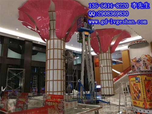冲孔铝单板包柱 包柱铝单板造型 商场铝板包柱贴图.jpg