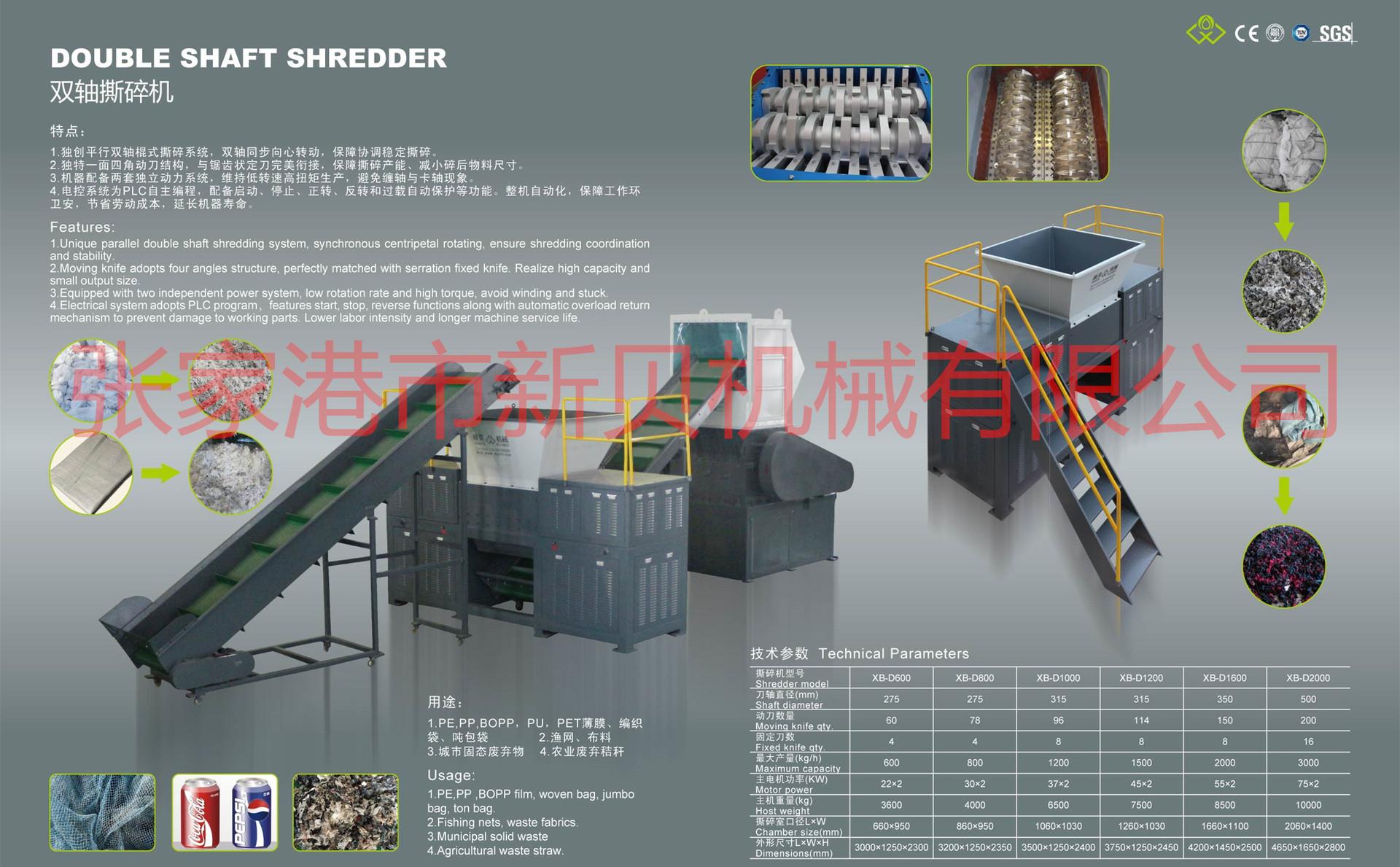 XB-D800型吨包袋、渔网高产能撕碎机30053885