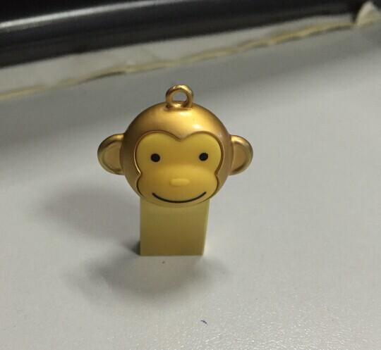 新款金色迷你防水U盘定制小猴U盘16g23083135