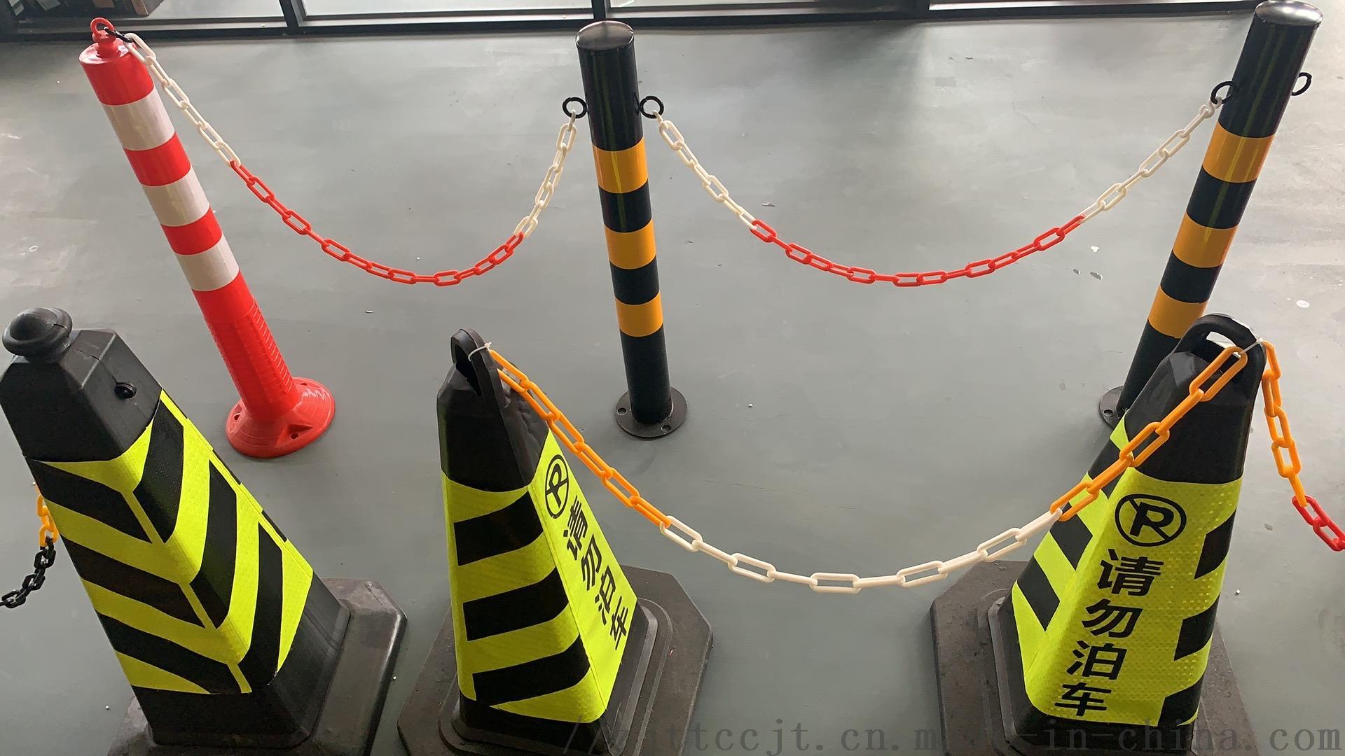 交通塑料链子链条封闭 示红白路锥塑胶安全工业扣环148398255