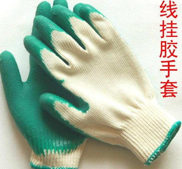 100%天然乳胶材质乳胶手套专利ZL200820026742.1技术制造结实耐用主要适用电焊 井下 隧道作业手套9156832