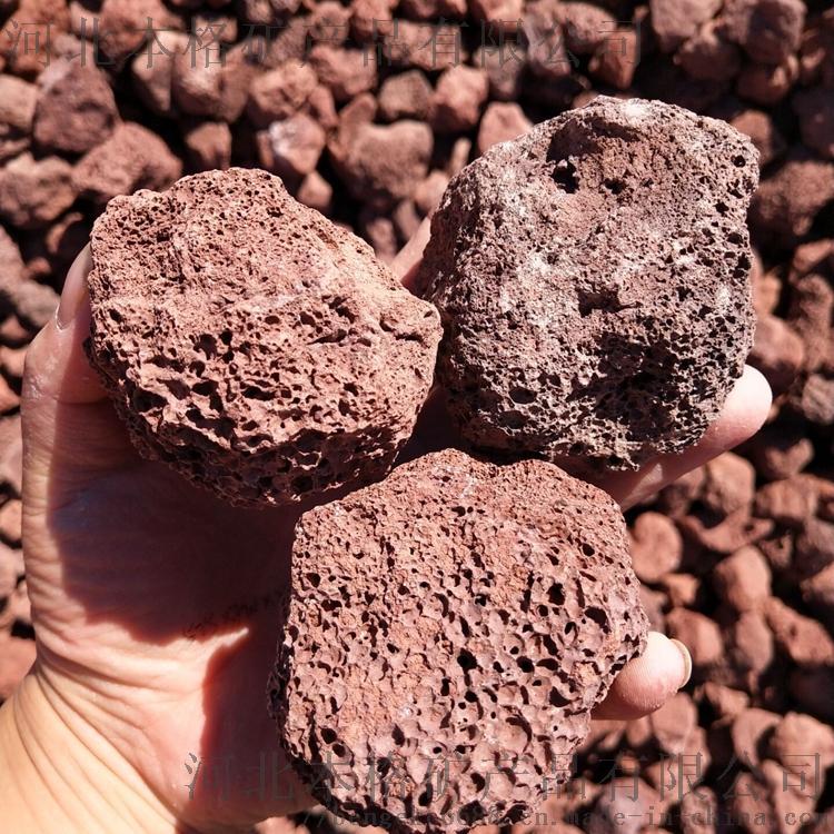 河北本格5-8cm火山石 红色火山岩808213895
