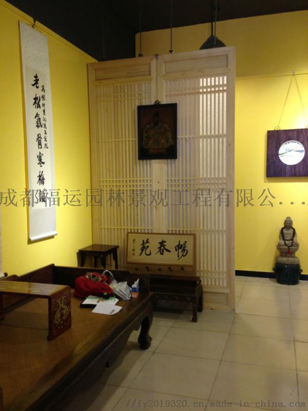 四川仿古门窗博古架厂家实木雕花挂件茶楼装修124532615
