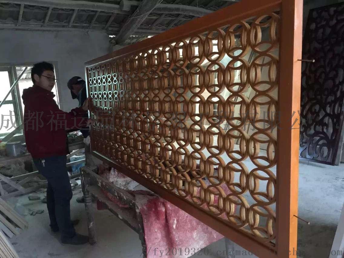 四川仿古门窗博古架厂家实木雕花挂件茶楼装修876502305