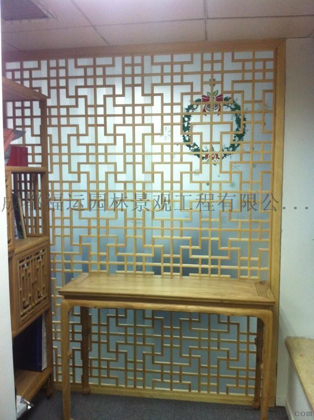 四川仿古门窗博古架厂家实木雕花挂件茶楼装修876502275