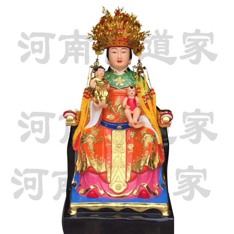 彩绘描金送生娘娘塑像868591752