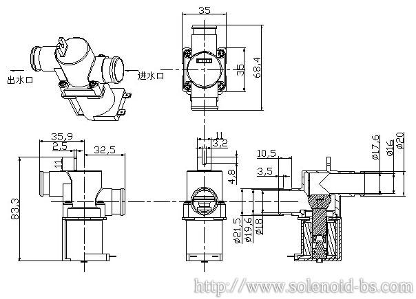 博顺BS-1135V饮水机电磁阀、咖啡机电磁阀732857485
